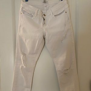 FRAME White Demin Distressed Jeans - LIKE NEW
